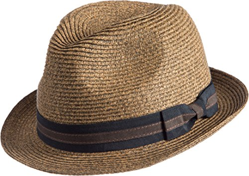 Overland Sheepskin Co Bedford Crushable Toyo Straw-Blend Fedora Hat