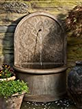 Campania International FT-171-BR Corsini Wall Fountain, Brown Stone Finish