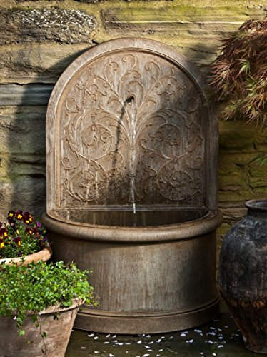 Campania International FT-171-AL Corsini Wall Fountain, Aged Limestone Finish by Campania International