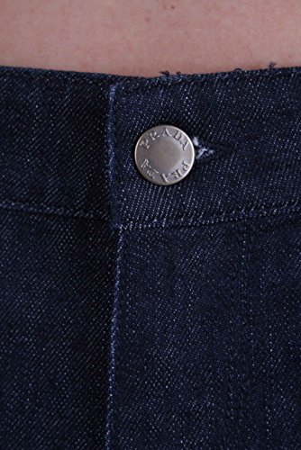 Femme Fonc Prada Jeans Bleu Pinochietto Capri g56xF7