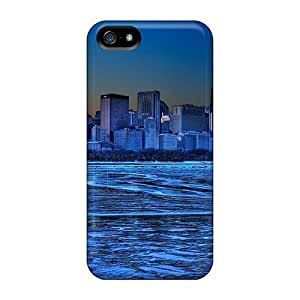 USMONON Phone cases For Iphone Case, High Quality Ice Blue Cityscape Of Lakefront Chicago Hdr For Iphone Iphone 5 5s Cover Cases