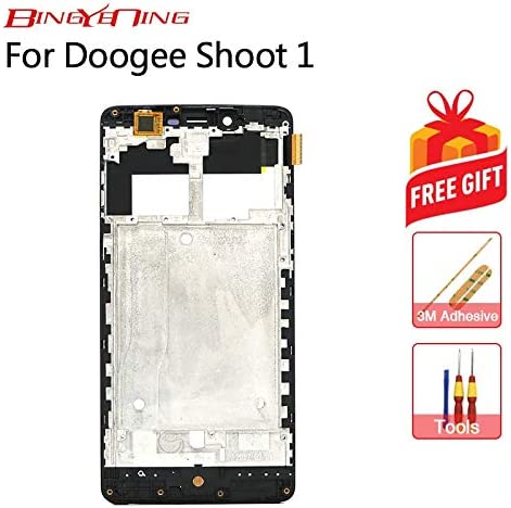 AiBaoQi For Doogee Shoot 1 LCD Display+Touch Screen+Frame Digitizer Assembly Replacement (Black LCD and Frame): Amazon.es: Electrónica