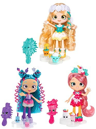 Shopkins Shoppies Girls Day Out Set of 3 Dolls Daisy Petals, Lucy Smoothie, Polli Polish