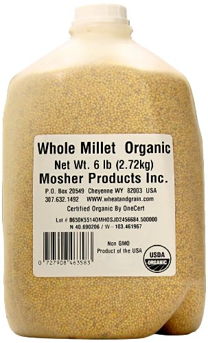 Mosher Products Organic Hulled Millet, 7 Pound