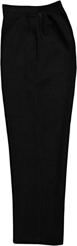 Ladies Elasticated Pocket Trousers Bi Elastic Womens Pants Black Brown Navy Sizes 10-24