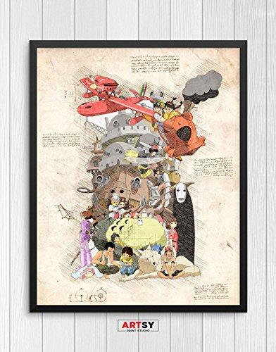 Studio Ghibli print, Studio Ghibli poster, Hayao Miyazaki, Anime print, Anime poster N.020