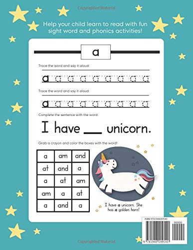 Learn to Read: A Magical Sight Words and Phonics Activity Workbook for Beginning Readers Ages 5-7: Reading Made Easy…