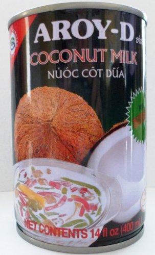 AROY-D Coconut Milk for Dessert Net Wet 14 Oz (Pack of 6) by Aroy-D