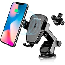 YIJINSHENG Fast Wireless Charger,Car Mount Air Vent Phone Holder Cradle for Samsung Galaxy S8/S8+/S7 Edge/S6 Edge+/Note 5,Standard Charger for iPhone 8/8+/iPhone X and all Qi-Enabled Devices