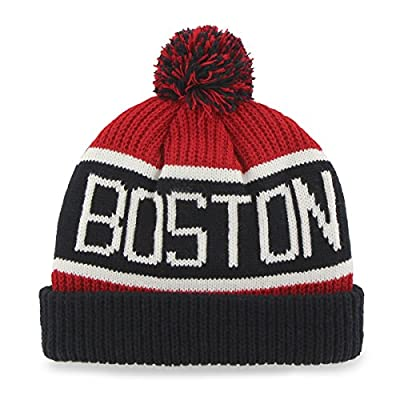 MLB Boston Red Sox '47 Brand Calgary Cuff Knit Hat with Pom