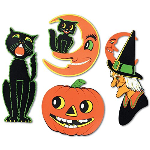 [Pkgd Halloween Cutouts   (4/Pkg)] (Witch Cutouts)
