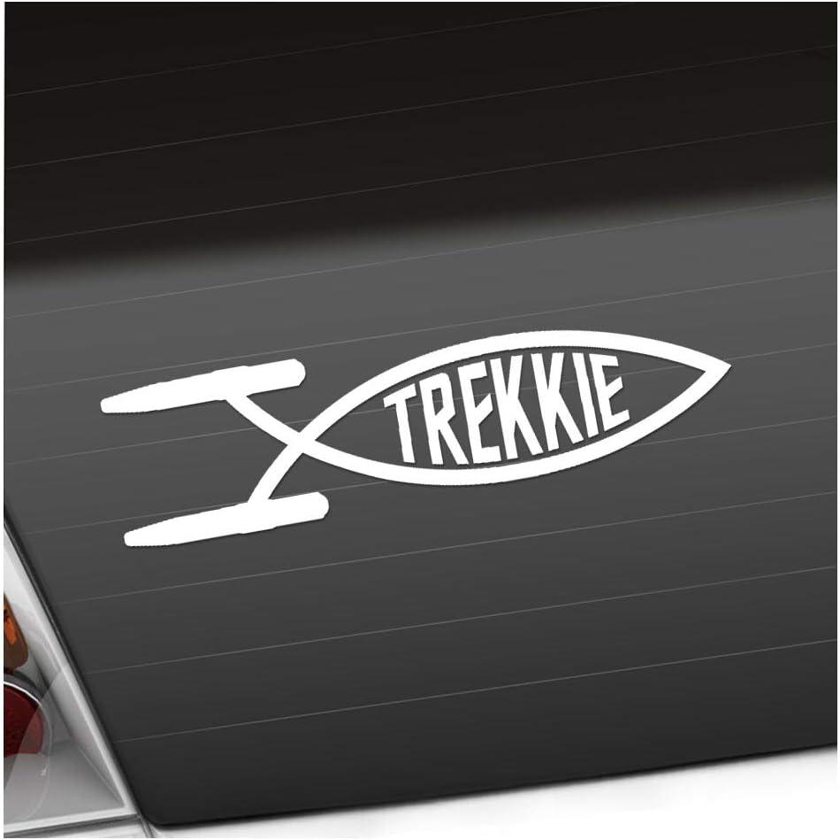 Trekkie Fisch 19 X 5 Cm In 15 Farben Neon Chrom Sticker Aufkleber Auto