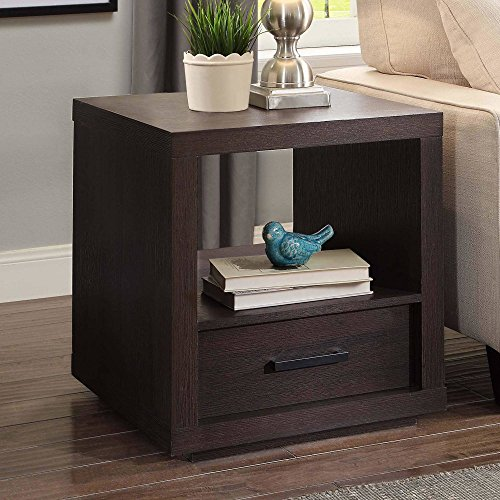 Better Homes and Garden Espresso Finish Steele End Table