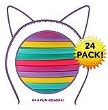 Cat Ear Headbands (24 pcs 6 colors) Hair Accessory Party Favor Dress up Costume