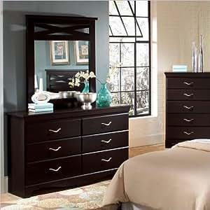 standard furniture crossroads dresser w mirror in cherry kitchen dining. Black Bedroom Furniture Sets. Home Design Ideas