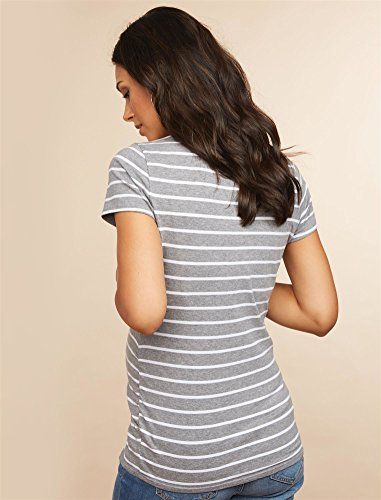 4653cdb8d87a4 Motherhood Maternity Women's Maternity Bumpstart 2 Pack Short Sleeve Tee  Shirts, Beet Red and Grey