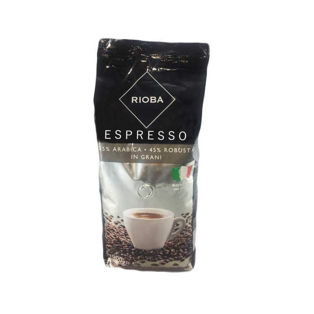 Rioba Caf/é Tostado de Grano Entero Silver Grani Espresso 1000 g 55/% Ar/ábica y 45/% Robusta