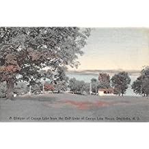 Glimpse of Cayuga Lake From the Golf Links of Cayuga Lake House Loch Sheldrake, New York, Postcard