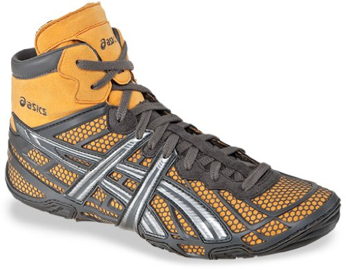 ASICS Men's Dan Gable Ultimate 2 Wrestling Shoe,Silver/Titanium/Tiger Orange,11 M US