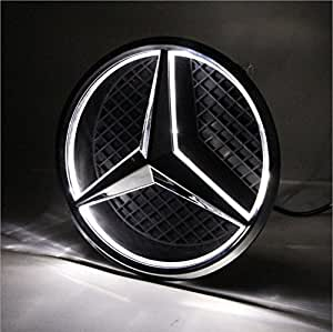 Azisen car front grille star emblem led logo for Mercedes benz symbol light