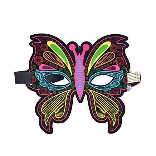 Halloween Mask,Sound Activated Mask,Flashing Mask Luminous Voice Control Mask,Masquerade Mask,Mardi Gras Carnival Rave Mask For Festival, Party, Halloween,Dance Ball, Cosplay Costume Props]()