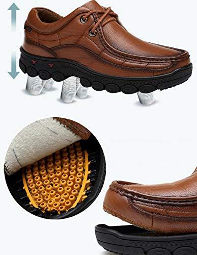 Aire Hombres Caminatas Al Cuero color Libre Cafe Tamaño Color De Negro Fgsjej Caminar Zapatos Para 42 Ocio Cuero wFXvpI