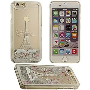 iPhone 6 Carcasa,iPhone 6 case,Caso de la cubierta de la torre Eiffel 3D Diseño de plástico duro de protección Carcasa para Apple iPhone 6 4.7 inch(blanco)