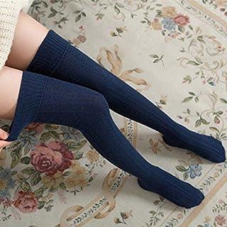 Calze al ginocchio da donna HOME Primavera e autunno, calze di cotone spesse sopra le calze al ginocchio vento universitario fresco jacquard calze alte sopra le calze femminili calze al ginocchio (Col FOUGNOGKISSS
