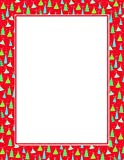 Geographics Christmas Tree Border Red & Gold Foil Letterhead, 8.5 x 11 Inches, Red Gold Foil, 25-Sheet Pack (49500)
