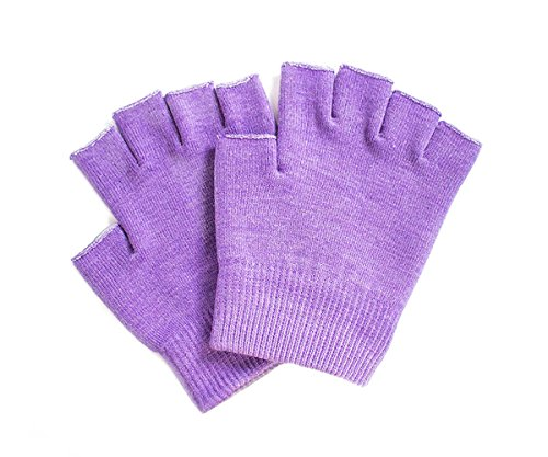 Hocee Moisturizing Gel Gloves Touch Screen Spa Moisture Skin Care Soft Cotton with Gel Repair Heal Eczema Cracked Dry Hand, Gel Lining Infused with Essential Oils and Vitamins, A Pair (Purple) by Hocee (Image #6)