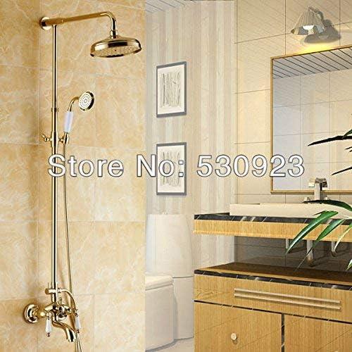 WXQ-XQ 蛇口 卸売小売ヨーロッパの高級ゴールデンポリッシュソリッドブラスシャワーセット蛇口浴室の蛇口のミキサータップ マルチ