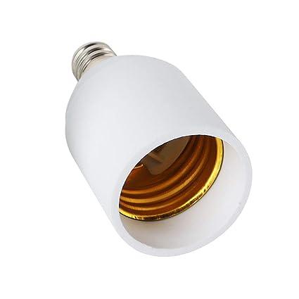 (6pack) candelabra screw e12 to e26 light base adapter, light bulb base  converter
