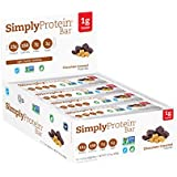 SimplyProtein Bar, Chocolate Caramel, Pack of 12, Gluten Free, Non GMO, Vegan