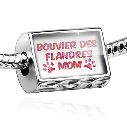 Bead Dog & Cat Mom Bouvier des Flandres Charm Fits All European Bracelets ()