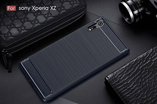 Funda Sony XZ Premium,Alta Calidad Anti-Rasguño y Resistente Huellas Dactilares Totalmente Protectora Caso de Cover Case Material de fibra de carbono TPU Adecuado para el Sony XZ Premium A