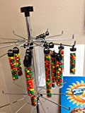 """Clear Display Hanging Tubes w/ Lid Candy Spices 50 - 5.5"""" Containers Nuts TULOX"""