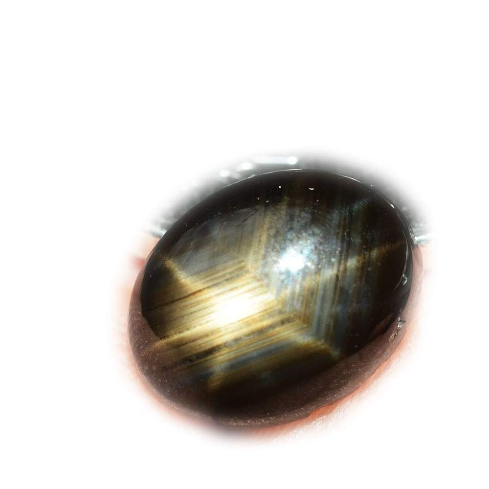 lovemom 2.49ct Natural Cabochon Unheated Black Stars Sapphire 6 Ray Thailand #R