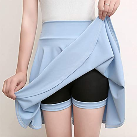 HEHEAB Falda,Luz Azul Y Tamaño Mini Faldas Pantalones Casual Mujer ...