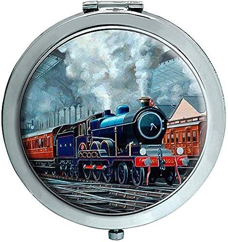 Ger Steam Tren Dirigiéndose Liverpool Calle Estación Espejo ...