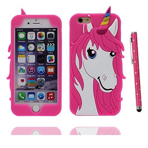 """iPhone 7 (4.7"""") Coque, [ de matériau TPU souple Licorne ] iPhone 7 étui (4.7 pouces), poussière glissement résistant aux rayures, iPhone 7 Case et stylet"""