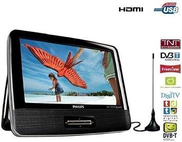 Philips DVD portátil y televisor digital PD9003: Amazon.es ...