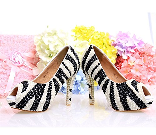 White 12cm Minitoo Femme black Heel Plateforme nwOnpvqA
