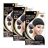 (3 Pack) Qfitt Mesh Dome Style Wig Cap #5011