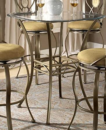 Charmant Bar Height Bistro Table With Beveled Glass Top   Brookside