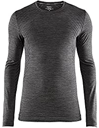Mens Base Layer Shirts: Fuseknit Comfort Roundneck Long Sleeve Wicking Top