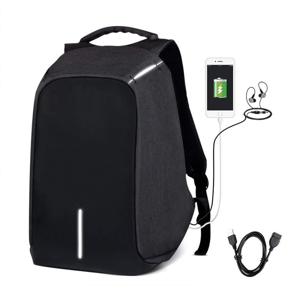ビジネスバッグ 盗難防止ノートパソコンバックパック 学校用旅行バッグ USB充電ポート付き 16.5インチノートパソコン用 BLACK ブラック VMXYYBJ5930ZM0309GYUA  ブラック B07PJ41W8K