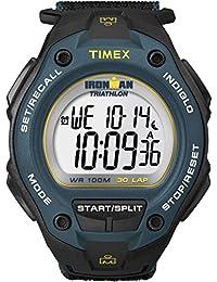 Men's T5K413 Ironman Classic 30 Oversized Black/Blue/Yellow Fast Wrap Watch