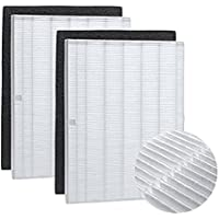 True HEPA Plus Carbon Replacement Filter Compatible With Winix 115115, 2 sets (HEPA Filter + Carbon Pre-Filter)