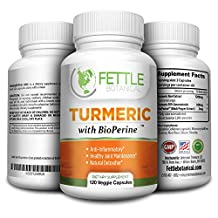 Tumeric Curcumin with Bioperine 1300mg Daily Dose 120 Caps Black Pepper Extract Piperine Tumerics Turmeric Supplements Natural Antioxidant Veggie Capsules