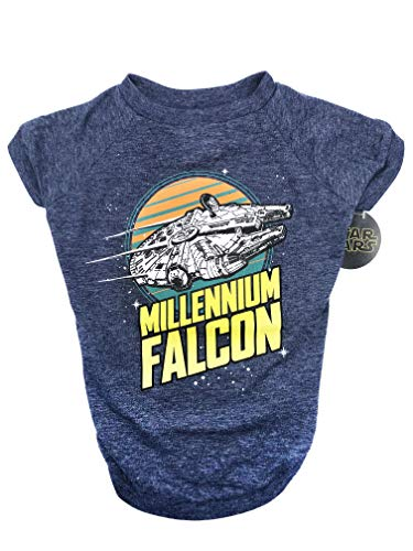 Star Wars Millennium Falcon Dog Tee | Star Wars Dog Shirt for Medium Sized Dogs | Medium